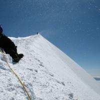 Гребень Монблана Альпы
